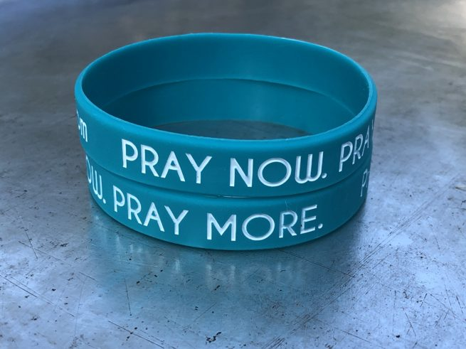Pray Now Pray More Wristbands